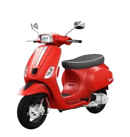 Vespa S125 red