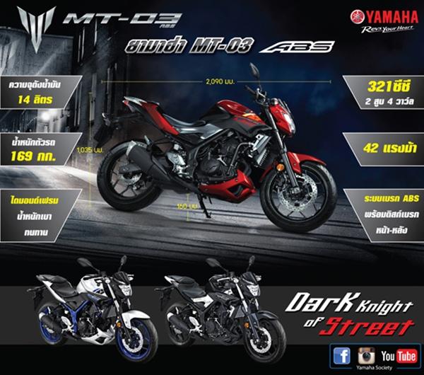 ราคา Yamaha MT-03 ปี 2015