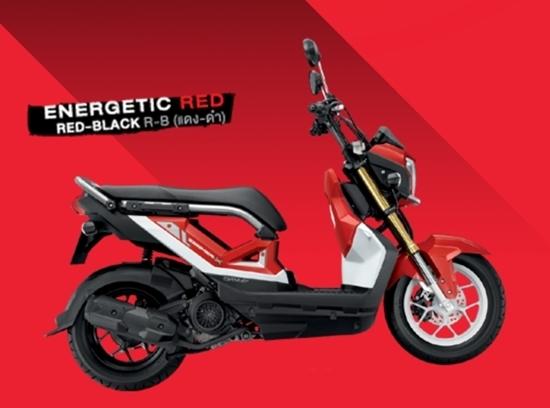 Zoomer-X สีแดงดำ