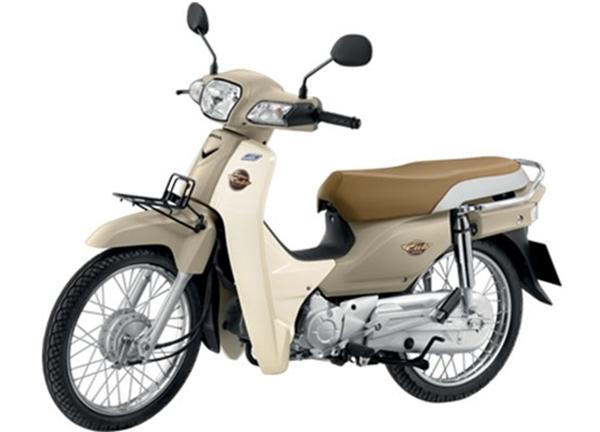 Honda Super Cub สีน้ำตาลขาว