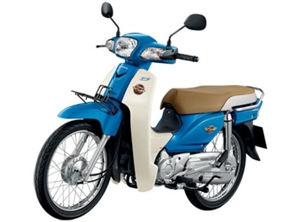Honda Super Cub สีน้ำเงินขาว