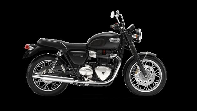 Triumph Bonneville T100 สีดำ Jet Black