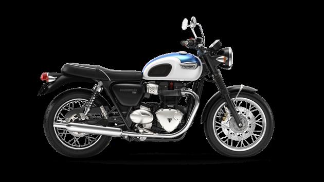 Triumph Bonneville T100 สีฟ้าขาว