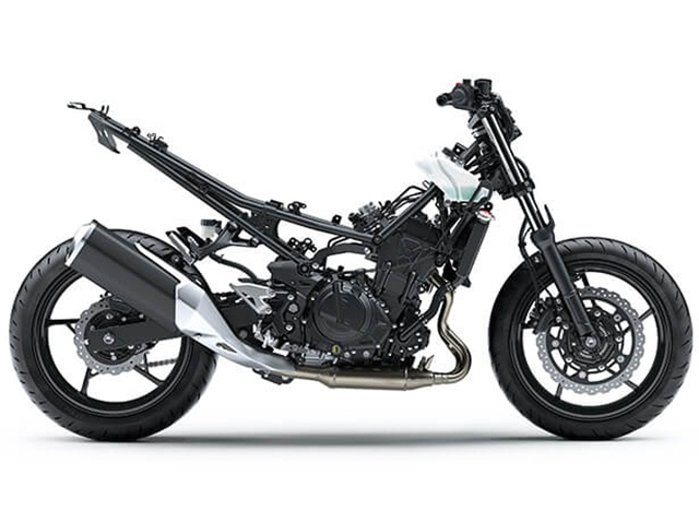 โครงสร้างเน็คเก็คไบค์ Kawasaki Z400 รุ่นใหม่ในตลาดรถ